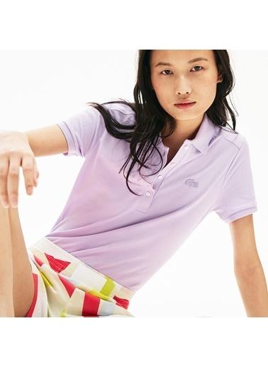 Lacoste Kadın Polo Tişört PF5462.3TD Mor